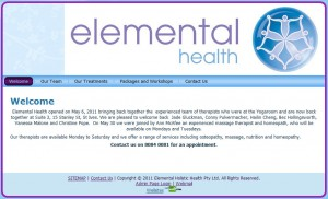 Health centre website design