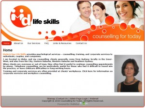 Psychologist, Life Coach & Counsellor Website Design