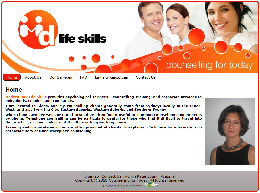 Psychologist, Life Coach & Counsellor Website Design