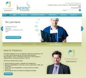 medical neurosurgeon website design