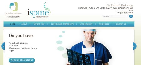 medical neurosurgeon website design