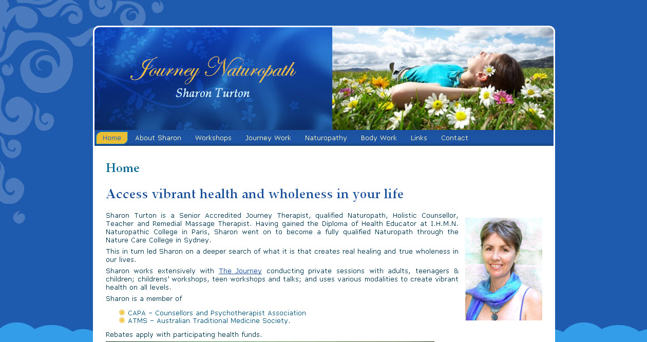 Naturopath naturopathy website design