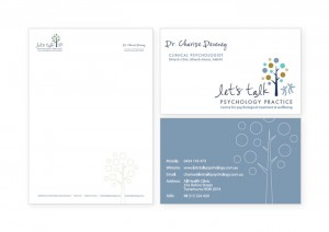 Clinical Psychologist business card and letterhead design