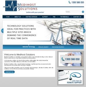Medical practitioner website design