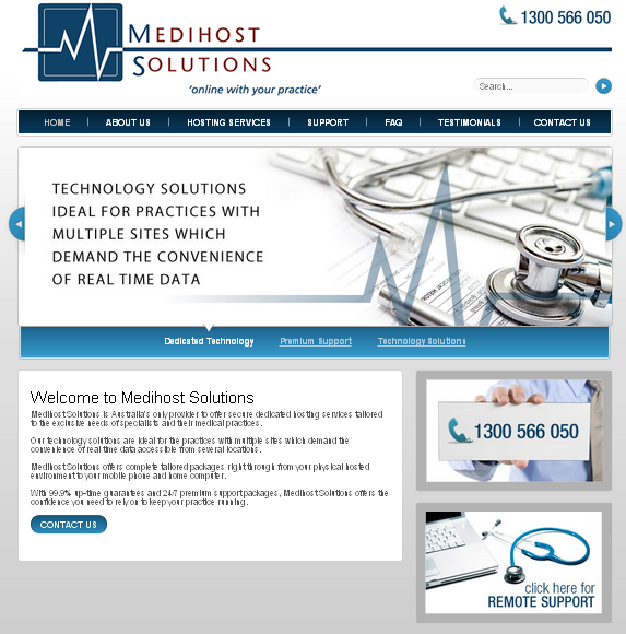Medical practitioner website design