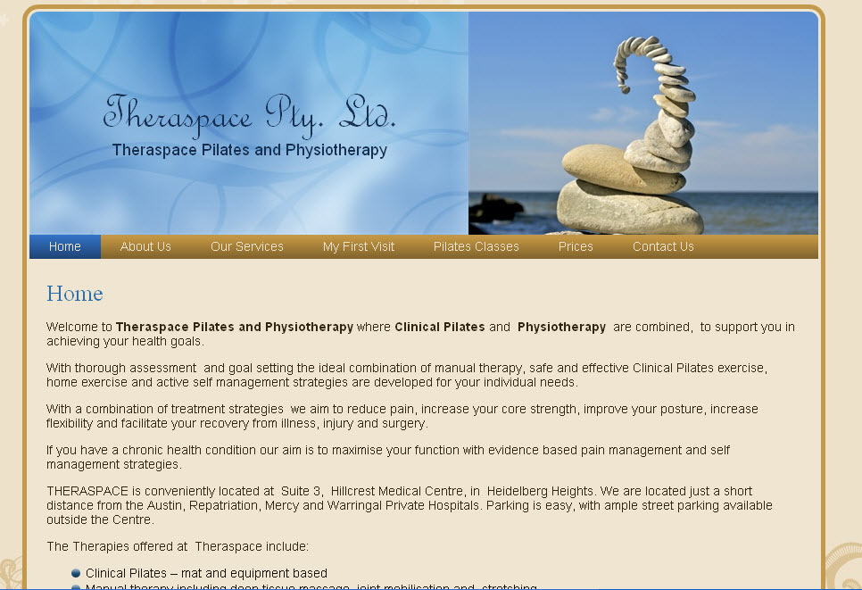 Pilates and Physiotherapy Website Design