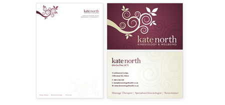 Kinesiologist Stationery Design : Kate North