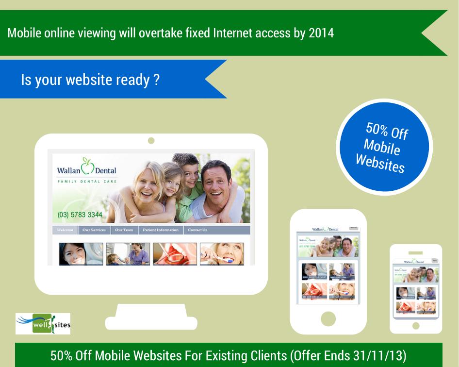 Mobile website special offer