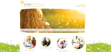 Psychology Website Design : Paige Psychology