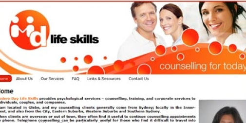 Psychology Website Design : MD Life Skills