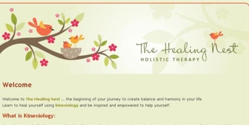 The Healing Nest Website Design