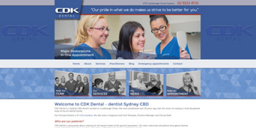 Dental Website – CDK Dental