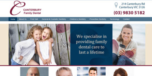 Dental Website – Canterbury Dental