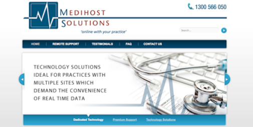 Medical Services Website Design : Medihost