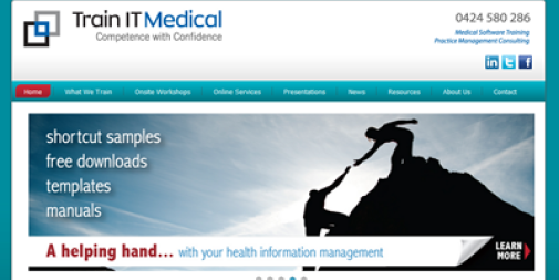 Medical Website Design – TrainIT Medical