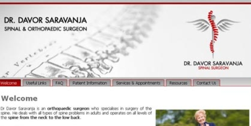 Medical Website Design : Dr Davor Saravanja