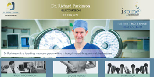 Medical Website Design : Dr Parkinson Surgeon