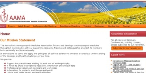 Medical Website Design : Australian Anthroposophic Medicine Association