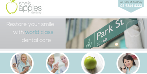 Dental Website – She's Apples dentistry