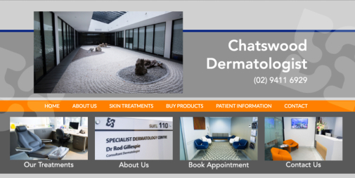 Medical Website Design – Chatswood Dermatologist