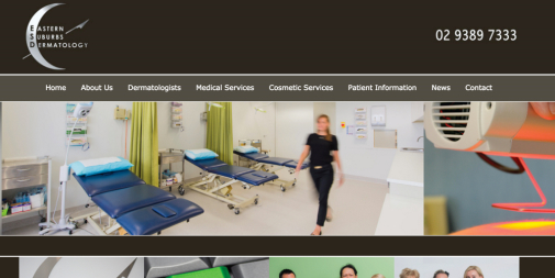 Medical Website Design – Eastern Suburbs Dermatology