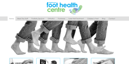 Podiatry Website Design – Foot Health Centre