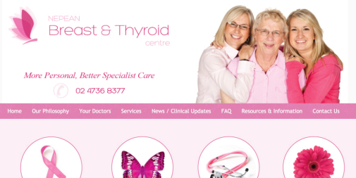 Medical Website Design – Nepean Breast and Thyroid Centre